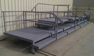 Platforms with Handrails