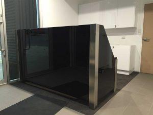 Stainless Steel + Glass Desk
