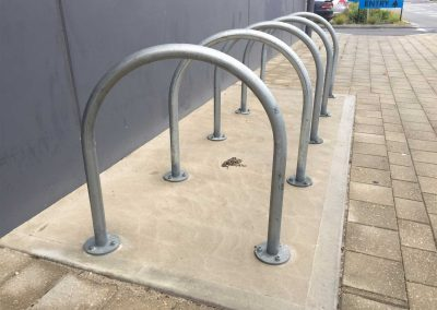 Galvanised Rolled Bike Hoop - BH700GBD