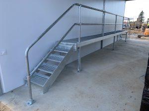 Modular Multi-Stair Carwash Platform